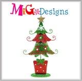 Wholesale Standing Christmas Tree Glitter Holiday Metal Decor