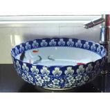 Chinese Ceramic Blue and White Washing Basin Lw885