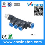 Male Reducer Triple Branch Pneumatic Fitting with CE