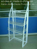 4 Tier Metal Shelf/Exhibition Stand/Advertising for Supermarket Goods Presentation (MDR-007)