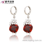 27706 Popular Luxury Elegant Rhodium Jewelry Earring with Zircon for Best Gifts or Wedding