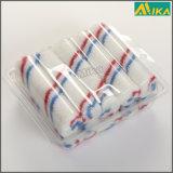 "10PCS 4"" Red and Blue Strips Nylon Mini Paint Roller Set"