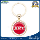 Customized Printing Round Shaped Metal Keyring