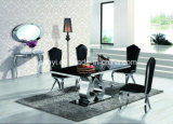 Tempered Glass Top Stainless Steel Dining Table