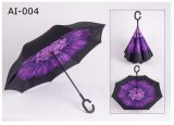 Upside Down Inverted Reverse Promotional Car Umbrella with C Handle