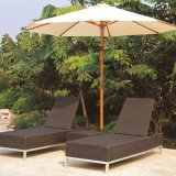 UV-Resistant PE-Rattan Folding Outdoor Beach Sun Lounger Chaise Lounger (TG-JW92)