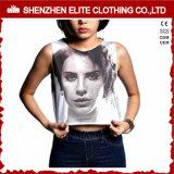 Hot Sale Yoga Ladies Customized Screen Print Sleeveless Crop Top (ELTWBJ-306)