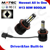 New All in One Driver Canbus Built-in H13 Car LED Headlight Bulb