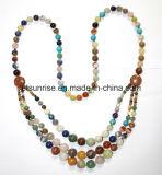 Semi Precious Stone Crystal Beaded Fashion Necklace