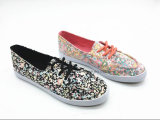 Nice Lady Canvas Shoes with Floral Printing (ET-LH160307W)
