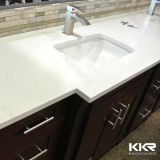 White Artificial Quartz Stone Vanity Top for Hotel Bathroom 170108