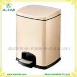 Stainless Steel 5L 12L Square Pedal Waste Bin for Hotel
