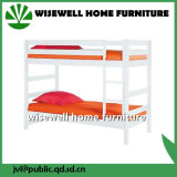 Solid Pine Wood White Bunk Bed