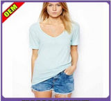 Fashion Sexy Cotton Print Long T-Shirt for Women (W243)