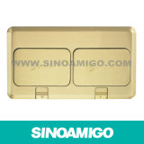 Raised Brass Plate Double Row Floor Boxes