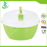 Food Grade Salad Bowl with Fork and Dressing Container