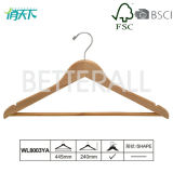 Wooden/Wood Hanger with Round Bar for Coat/Shirt/Suit (WL8003YA)