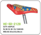 Leather BMX Saddle, Red with Stars (SD-2128)