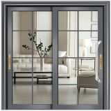 Australian Standard Thermal Break Aluminum Sliding Door with Grill