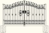 Good Quality Decorative Wrought Iron Security Entrance Gates