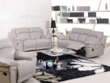 Light Grey Color Big Size Leather Sofa Set