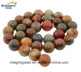 Natural Gemstone Round Beads Size 6 8 10 12 14mm Wholesale Picasso Stone Real Gemstone