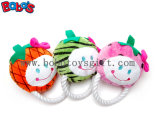 High Quanlity Colorful Plush Fruit Shape Pet Dog Toy with Cotton Rope Bosw1070/15cm