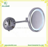 Hotel Single Sided Wall Mounted Magnifying Mirror with LED Light
