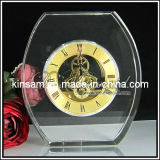 Crystal Glass Desk Clock for Home Decoration