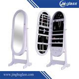 Siver Finished Dressing Framed Wall Mirror/ Standing Dressing Mirror for Home Decoration