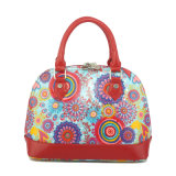 The High Quality Printed Flower Handbag Canvas Shell Women Handbag