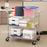 Adjustable Metal Basket Rack/Basket Trolley for File/Paper Storage (BK753590A3CW)