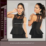 Sexy Lace Embroidery Tank Tops Vest T-Shirt Women Top (25126)