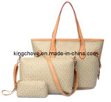 a Set (big shopping tote bag / crossbody / cosmetic bag) of Ladies Traditional Tote Bag (KCH118-4)