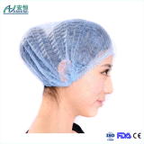 Disposable Non Woven Medical Clip Cap with Single Elastic