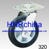 Black Elastic Rubber Wheel Heavy Duty Industrial Caster