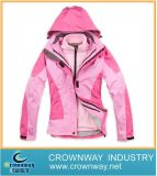 Pink Padding Women Ski Jacket with High Quality (CW-SKIW-38)