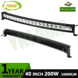 40inch CREE Single Row Spot LED Curved Bar for Offroad Vehicle