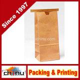 Bagdream Bakery Bags Wax Kraft Paper Bags Tin Tie Tab Lock Bags White
