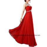 Women Beading Chiffon Sleeveless Evening Dress Prom Dress