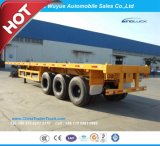 3 Axle 12.5 M Flatbed Truck Semi Trailer with Jost Landing Gear