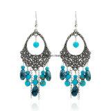 Fashion Cheap Hollow Handmade Beads Tassel Oval Earrings