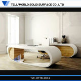 Corian Solid Surface Modern Furniture White Manager Executive Office Desk