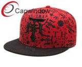 Red Printed Crown Cotton Promotional Leisure Baseball /Snapback Hat