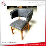 Metal Design Competitive Price Armrest Leather Saloon Chairs (FC-139)