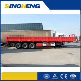 Tri-Axles Flat Cargo Transporting Side Breast Board Trailer Truck