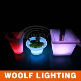 Colorful Changing LED Square Flower Pot