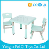 Macarons Color School Student Furniture Study Desk with Chair Square Table and Chair