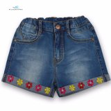 New Style Popular Cotton Denim Shorts with Embroidery for Girls by Fly Jeans