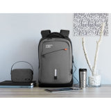 Nylon Power Backpack with Built-in Removable 8000 mAh Power Bank